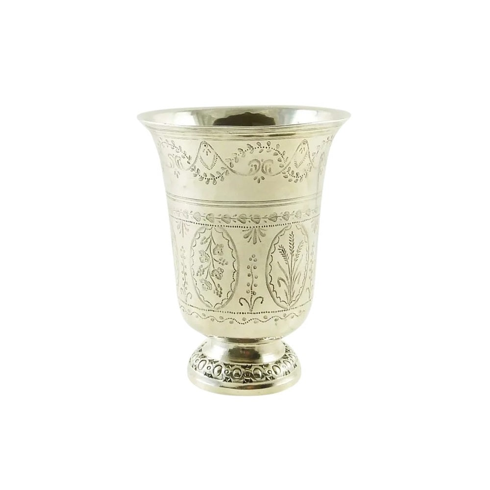 French Sterling Silver Timbale or Beaker, 18th C - 43 Chesapeake Court Antiques