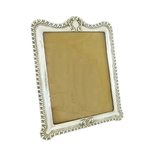 Antique English Sterling Silver Picture or Photo Frame, Large Size Victorian - 43 Chesapeake Court Antiques