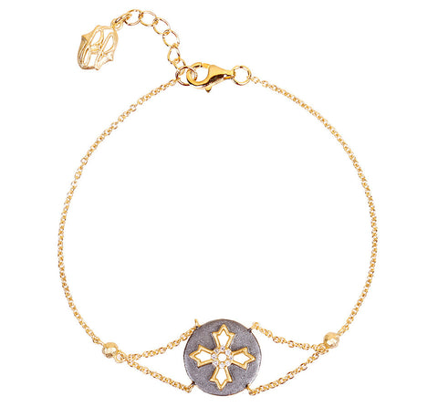 Modern Round Cross Chain Bracelet. Contemporary Design that is anything but Basic.