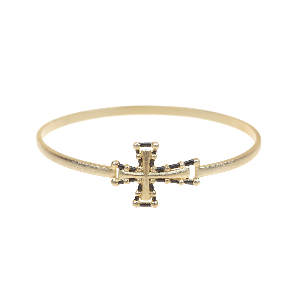 amazon cross gold tone i htenmq pave crystal com jewelry bangle bangles link bracelet criss