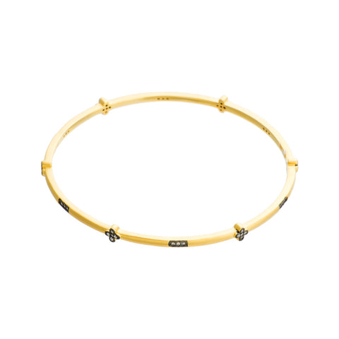 Dainty Multi Cross Bangle. An Elegant Mix of Luster and a Classic Motif