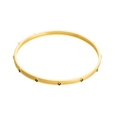Dainty Accent Bangle. An Instant Everyday Classi with a Dash of Iridiscence