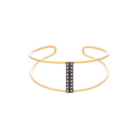 Modeern Bezel Open Bar Cuff. You'll want to Wear this Statement Piece with everything.