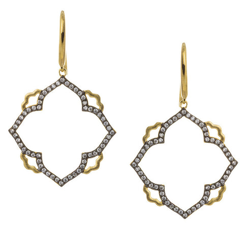 CZ Open Abstract Earring