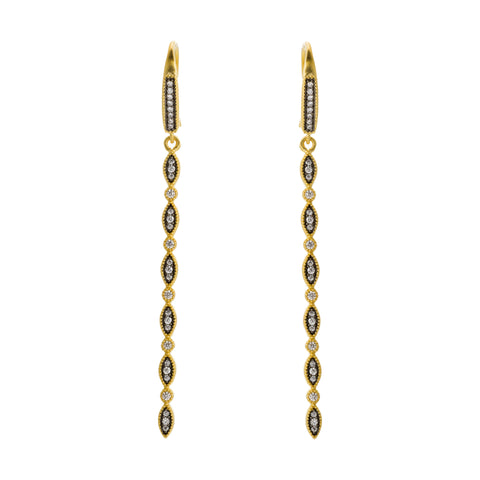 Dainty Bar Drop Earring. A Classic Silhoutte with a Glam Vibe