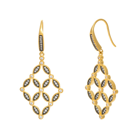 Open Tiered Drop Earring. Stand Out with Striking Feminine Style