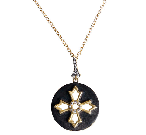 Modern Round Cross Necklace. Fashionable Creativity at it's Finest.