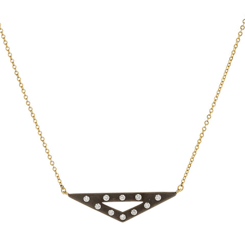 CZ Open Triangle Necklace