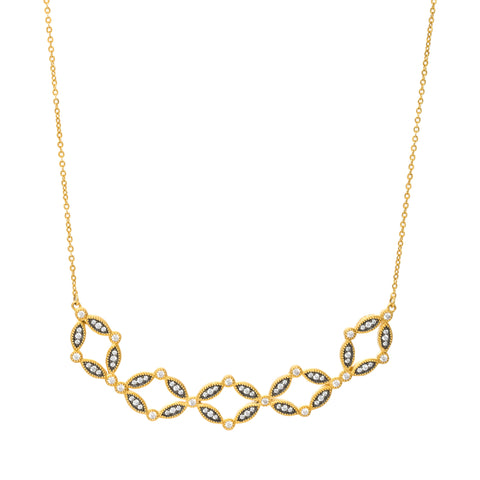 Open Statement Bar Necklace. A Classic Concept with Glamorous Appeal