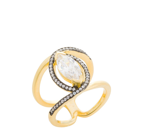 CZ Marquise Statement Ring