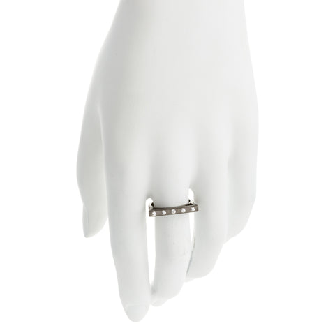 Modern Bezel Stackable Bar Ring. An Elegant Mix of Edgy and Chic.