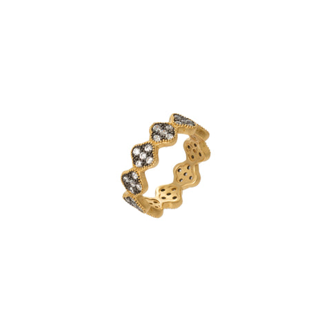 CZ Clover Band Ring