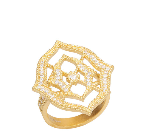 Signature Joey J. Textured Frame and CZ Ring