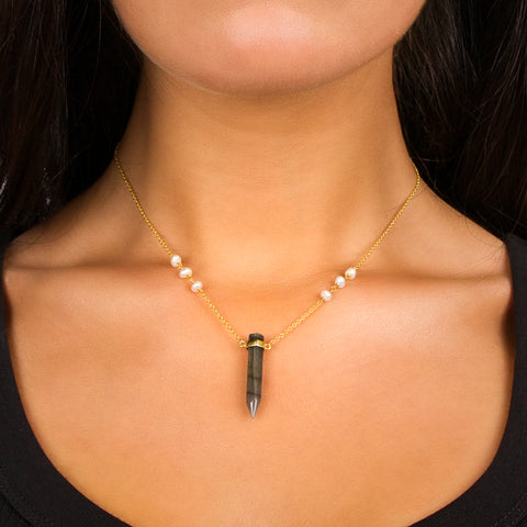 Pearl Prism Necklace