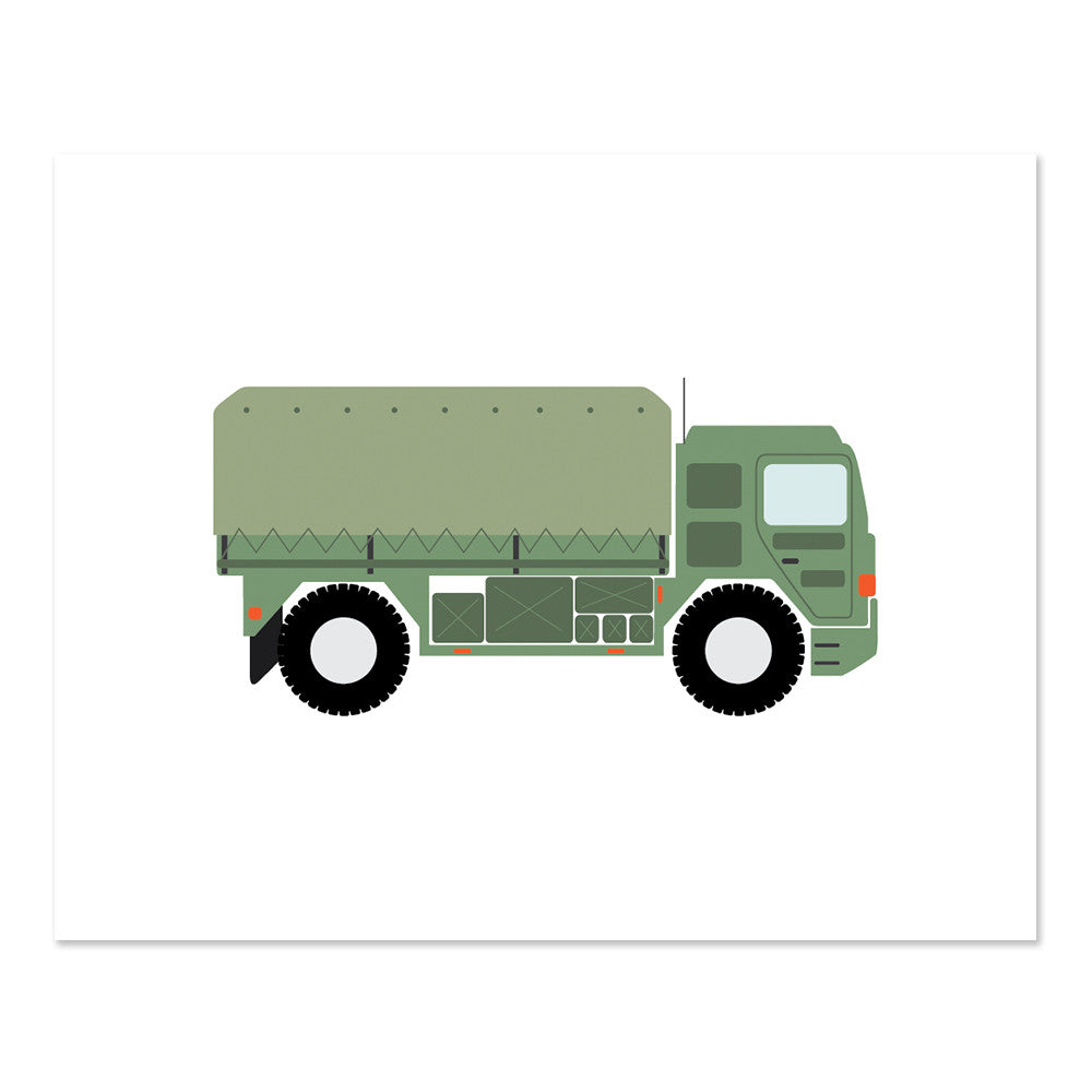 Army Truck Print