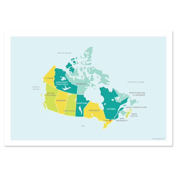 Classic Map of Canada Print