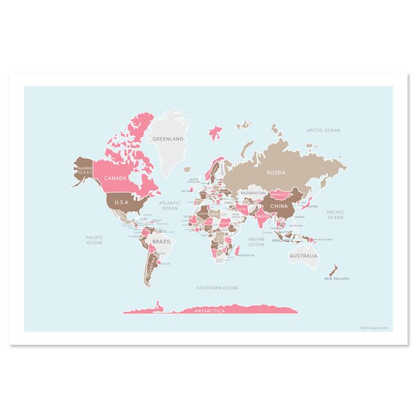 Classic Map of the World Print