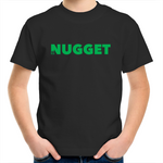 Shout Green Kids T-Shirt - Black - Nugget Industries