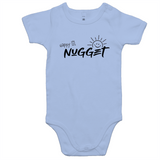 Happy Lil Nugget Romper - Powder Blue - Nugget Industries