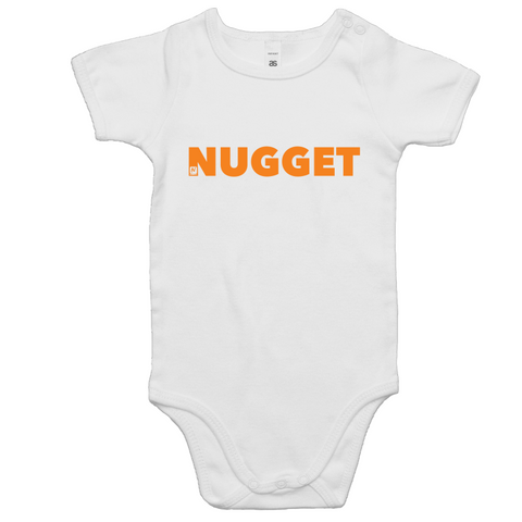 Shout Orange Romper - White - Nugget Industries