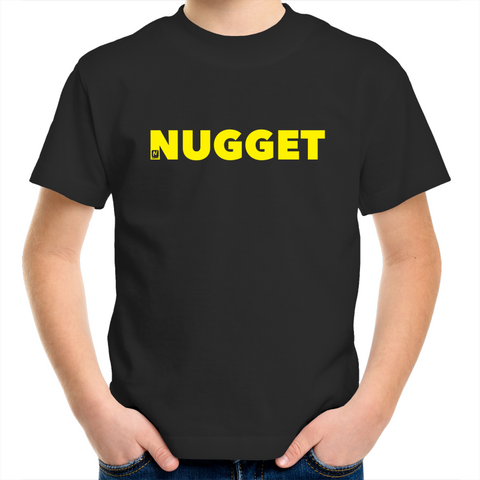 Shout Yellow Kids T-Shirt - Black - Nugget Industries