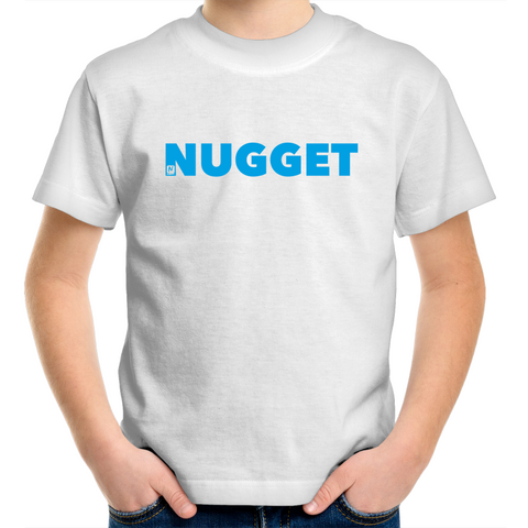 Shout Blue Kids T-Shirt - White - Nugget Industries