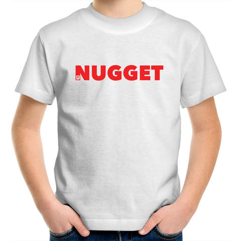 Shout Red Kids T-Shirt - White - Nugget Industries