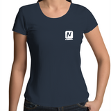 Logo Scoop Neck Tee - Navy - Nugget Industries