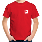 Logo Kids T-Shirt - Red - Nugget Industries