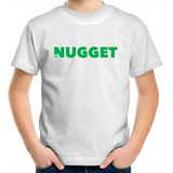 Shout Green Kids T-Shirt - White - Nugget Industries
