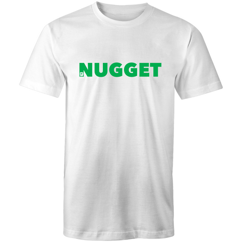 Shout Green T-Shirt - White - Nugget Industries