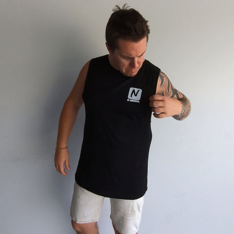 Logo Tank - Black - Nugget Industries