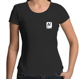 Logo Scoop Neck Tee - Black - Nugget Industries