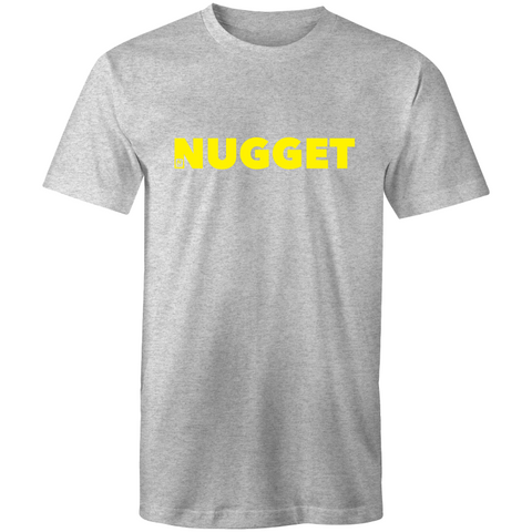 Shout Yellow T-Shirt - Grey Marle - Nugget Industries