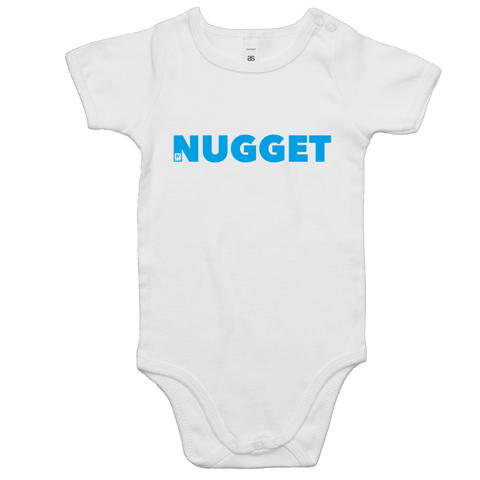 Shout Blue Romper - White - Nugget Industries