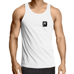Logo Singlet - White - Nugget Industries