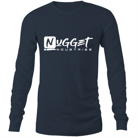 Signature Long Sleeve T-Shirt - Navy - Nugget Industries