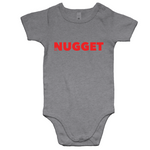 Shout Red Romper - Grey Marle - Nugget Industries