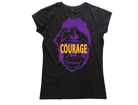 TFA Gorilla Courage (W) Black Tee