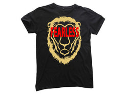 TFA Lion Fearless Mens Black Tee