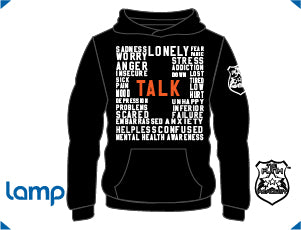 TFA TALK is Positive HOODIE Black (W)