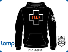 TFA TALK is Positive HOODIE Black ENGLISH