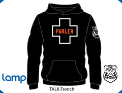 TFA TALK is Positive HOODIE Black FRENCH