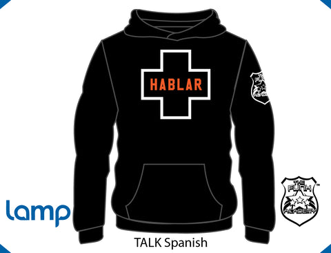 TFA TALK is Positive HOODIE Black SPANISH
