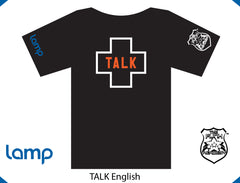 TFA & Lamp TALK IS POSITIVE ENGLISH (black)