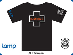 TFA & Lamp TALK IS POSITIVE GERMAN (black)