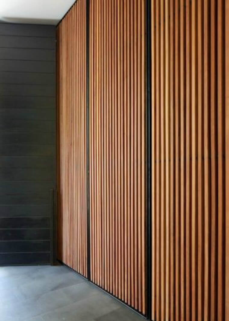 Contemporary Wood Batten Cupboard doors