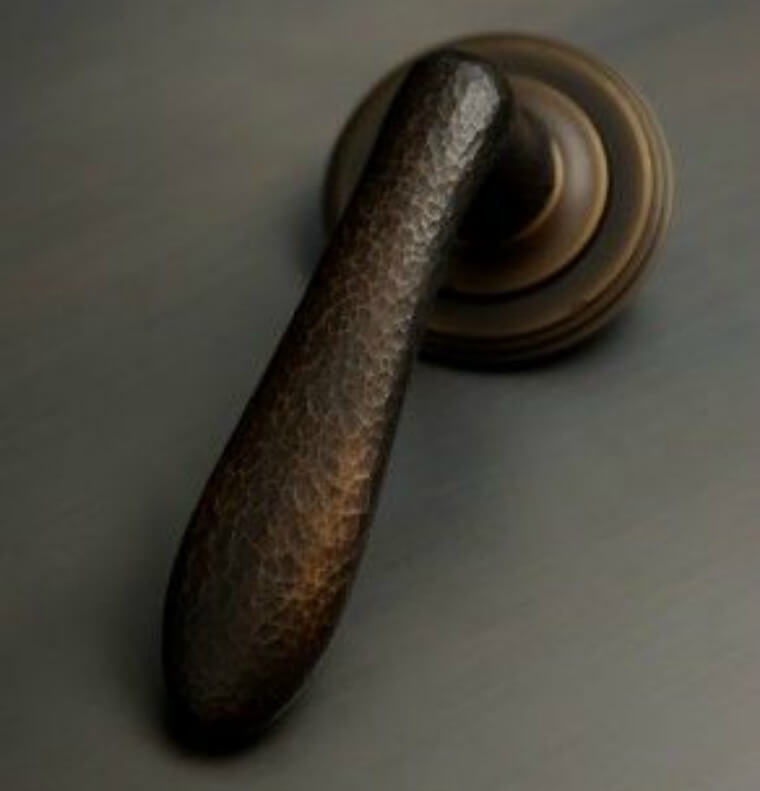 Blackened Brass Door Handle