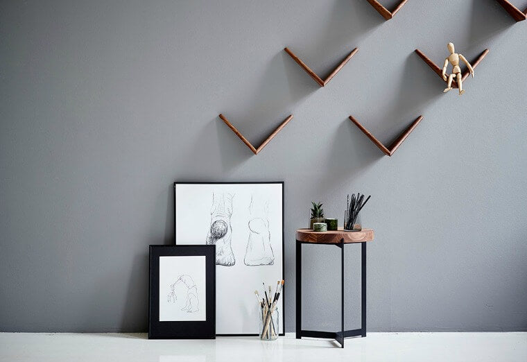 Butterfly shelf - pair by Poul Cadovius for DK3. Designed in 1958 by legendary Danish designer Poul Cadovius, the Butterfly shelf was reissued by DK3 in 2015 to bring this graphic and practical shelving system to a wider audience.