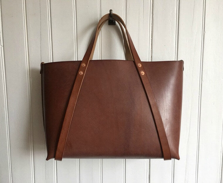 The Perfect brown leather tote bag, Charlie Borrow WHOLE-CUT TYPE II